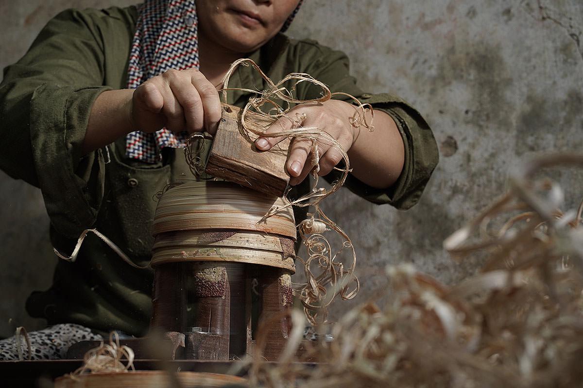fabrication bol en bambou